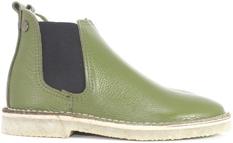 Jonny's Kaki Chelsea Bootee - 36 - Green/Natural/Black