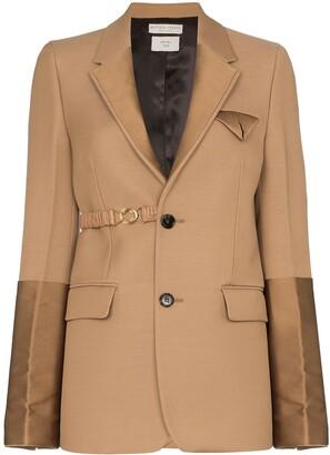 Bottega Veneta single-breasted panelled blazer