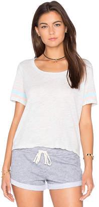 Monrow (モンロー) - ATHLETIC STRIPE クロップTシャツ