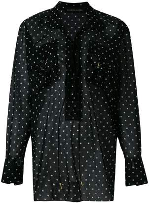 Alexandre Vauthier polka dot lace-up blouse