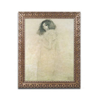 "Gustav Trademark Global Klimt 'Portrait of a Young Woman' Ornate Framed Art - 14"" x 11"""