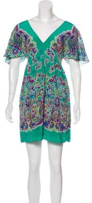 Tibi Silk Printed Dress