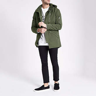 River Island Only and Sons khaki hooded parka jacket
