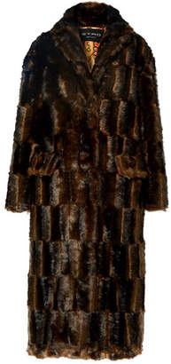 Etro Faux Fur Coat - Brown