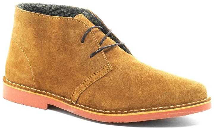 Selected Shearling Desert Boots - Brown
