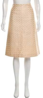 Tome Textured Knee-Length Skirt