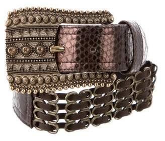 Suzi Roher Embellished Embossed Waist Belt