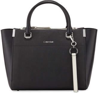 Iconic American Designer Raelynn Medium Saffiano Satchel Bag