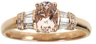 JCPenney FINE JEWELRY LIMITED QUANTITIES Genuine Morganite and 1/4 CT. T.W. Diamond Ring