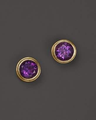 Bloomingdale's Amethyst Bezel Set Stud Earrings in 14K Yellow Gold - 100% Exclusive