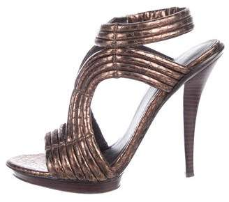 Elizabeth and James Star Metallic Sandals