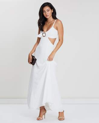 Fame & Partners O-Ring Cutout Dress
