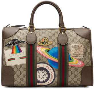 Gucci Brown GG Supreme Courrier Tote