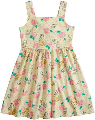 Disneyjumping Beans Disney's Beauty and the Beast Belle Girls 4-7 Rose Print Dress by Jumping Beans