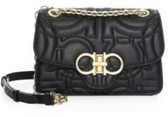 Salvatore Ferragamo Medium Quilted Leather Flap Shoulder Bag