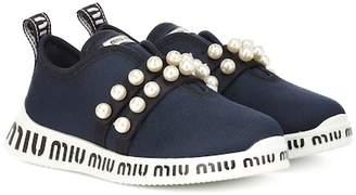 Miu Miu Logo embellished sneakers