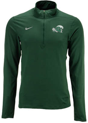 Nike Men Tulane Green Wave Solid Dri-fit Element Quarter-Zip Pullover