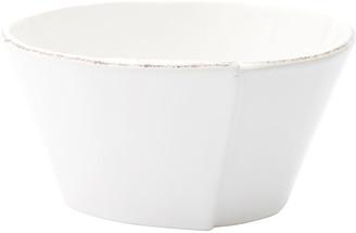 Vietri Lastra Stacking Cereal Bowl, White