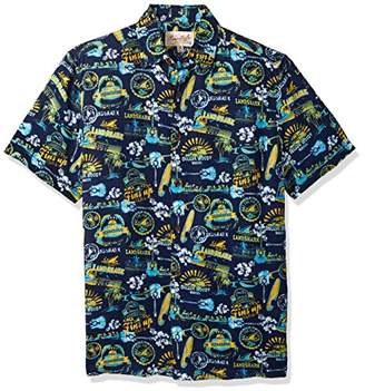Margaritaville Men's Short Sleeve Landshark Print Rayon Shirt
