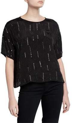 Velvet Jonelle Embellished Short-Sleeve Blouse