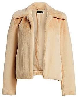 Theory Women's Luxe Faux Fur Jacket