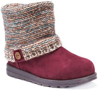 Muk Luks Womens Patti Winter Boots Water Resistant Slip-on