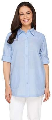 Joan Rivers Classics Collection Joan Rivers Lightweight Boyfriend Shirt