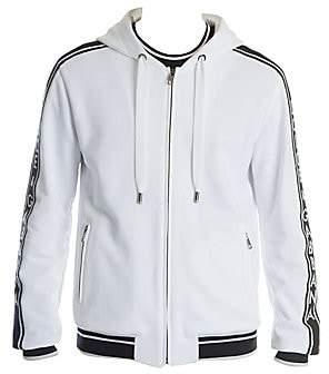 Dolce & Gabbana Men's Side Stripe Zip-Up Hoodie