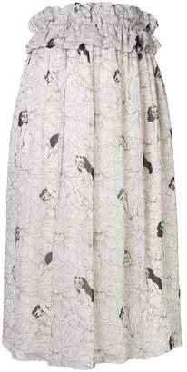 Malaika Raiss printed high-waisted skirt