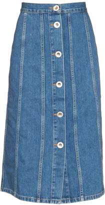 MiH Jeans Simone button-down denim skirt