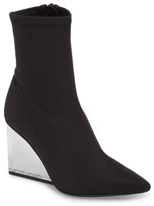 Jeffrey Campbell Siren Clear Wedge Sock Bootie
