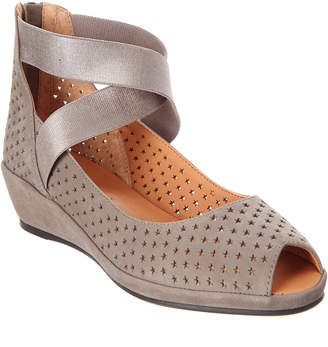 Gentle Souls Lisa Suede Wedge Sandal
