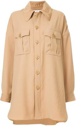 ASTRAET oversized button-down jacket