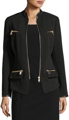 Raison D'etre Black Lady Zip-Front Blazer, Black $135 thestylecure.com