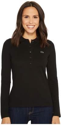 Lacoste Long Sleeve Pique Polo Women's Clothing