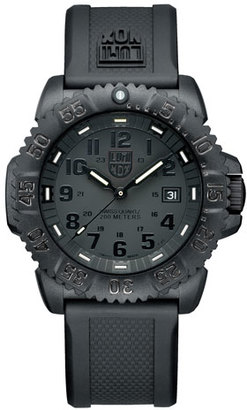 Luminox 44mm Navy SEAL 3050 Series Colormark Watch, Black $395 thestylecure.com