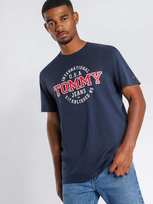 156846cb Tommy Hilfiger TJM Circular Short Sleeve T-Shirt in Navy