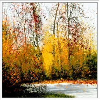 Jonathan Bass Studio Fall, Decorative Framed Hand Embellished Canvas