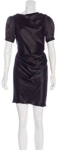 Balenciaga  Balenciaga Silk Draped Dress