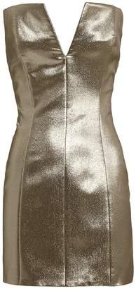Redemption Lame Strapless Dress