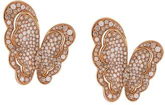 Pasquale Bruni 18kt rose gold Liberty butterfly diamond earrings