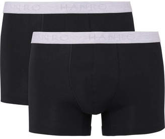 Hanro Two-Pack Stretch-Cotton Boxer Briefs