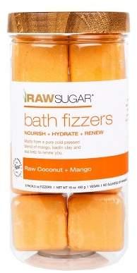 Raw Sugar Raw Coconut And Mango Bath Fizzers - 8ct