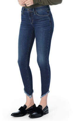 Joe's Jeans The Icon Ankle Skinny Jeans with Diagonal Fray Hem