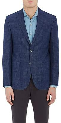 Piattelli MEN'S WOOL-BLEND HOPSACK TWO-BUTTON SPORTCOAT