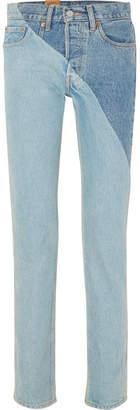 Vetements Levi's Mid-rise Straight-leg Jeans - Mid denim
