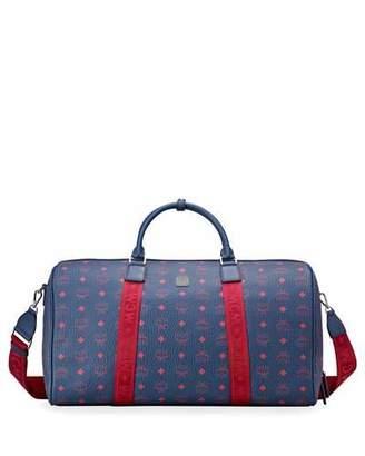 MCM Men's Traveler Visetos Coated Canvas Weekender Bag