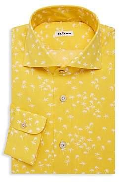 Kiton Men's Palm Tree Dress Shirt