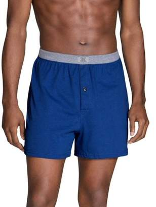 Fruit of the Loom Big Men's Assorted Knit Boxer Extended Sizes, 4 Pack