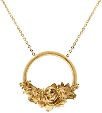 Lee Renee Rose Halo Necklace - Gold